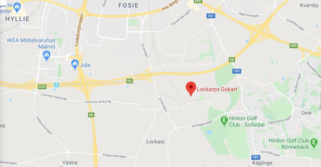 Lockarps Gokart, gocart bana, racetrack